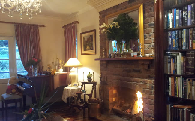 Enjoy the fire while in your Mt Tamborine accommodation at Amore BandB